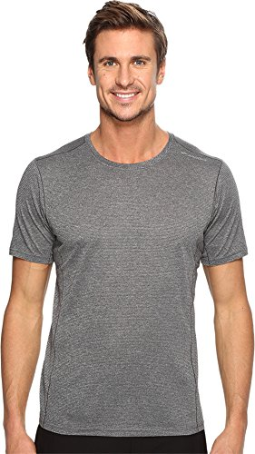 Brooks  Men's Ghost Short Sleeve Shirt Heather Asphalt Small (Running Brooks Shirts)