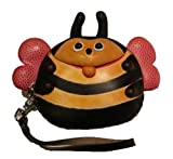 Phoebe the Bumblebee - Handmade Leather Bee Coin Pouch #1104