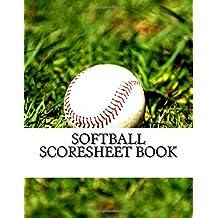 Softball Scoresheet Book: 100 Pages (50 sheets)