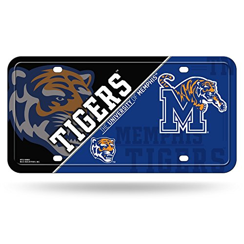 Rico NCAA Memphis Tigers Metal License Plate Tag (Fan Memphis Gear Tigers)