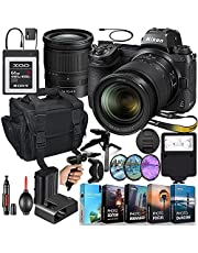 Nikon Z6II Mirrorless Digital Camera with 24-70mm Lens MFR #1663 + 64GB XQD High Speed Memory + Slave Flash, Padded Shoulder Bag, Grip Tripod, HD Filters, Video/Photo Editing Software Package & More