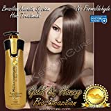 KERATIN CURE FORMALDEHYDE FREE BRAZILIAN HAIR TREATMENT GOLD & HONEY BIO-BRAZILIAN REPAIR-STRAIGHTENER PROFESSIONAL 960ml/ 32.5 fl oz