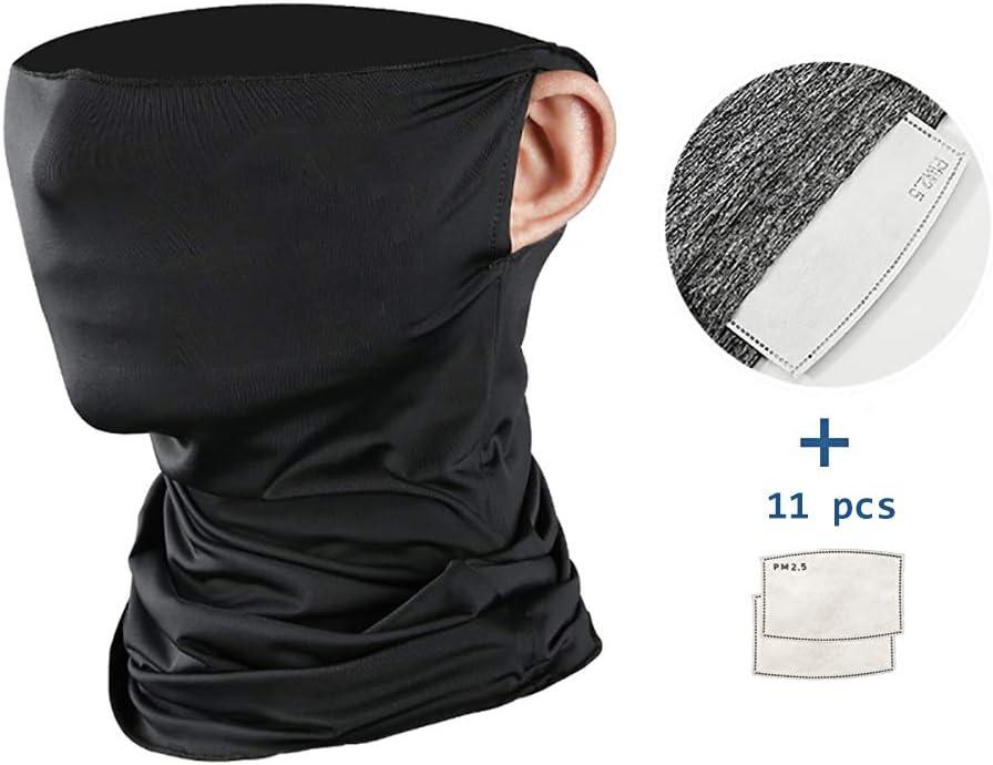 Mehrzweck Gesicht Abdeckung F/ür M/änner Frauen Sport//Outdoor 12St ALRY Hals Gamasche Gesicht Schal Mask-Staub Mit Sicherheit Kohlefilter