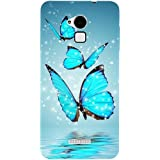 Casotec Flying Butterflies Design Hard Back Case Cover for Coolpad Note 3