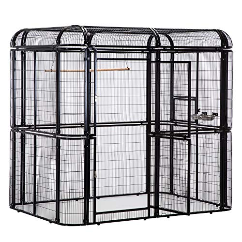 PANEY Large Black Iron Big Walk-in Bird...