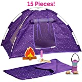 """Adora Amazing World """"Camping Wooden Play Set"""" – 15 Piece Accessory Set For 18"""" Dolls [Amazon Exclusive]"""
