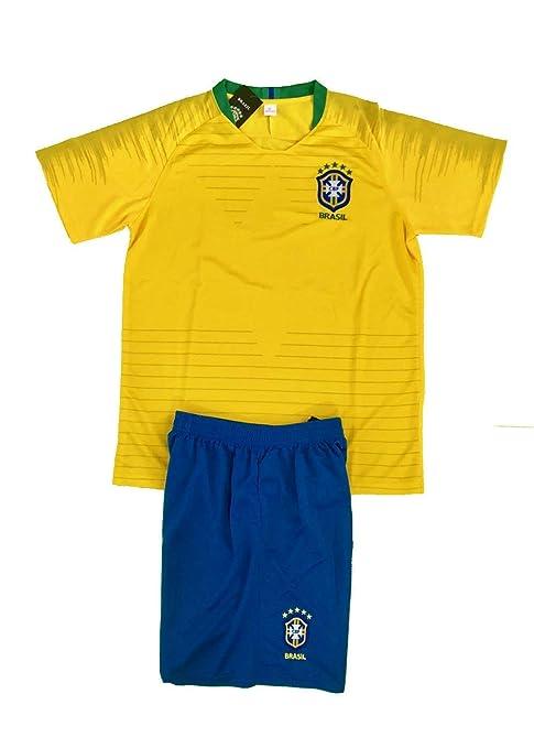 7f296076bbfc8 Amazon.com : Brasil Soccer Adult Uniform Set Jersey & Short .New ...