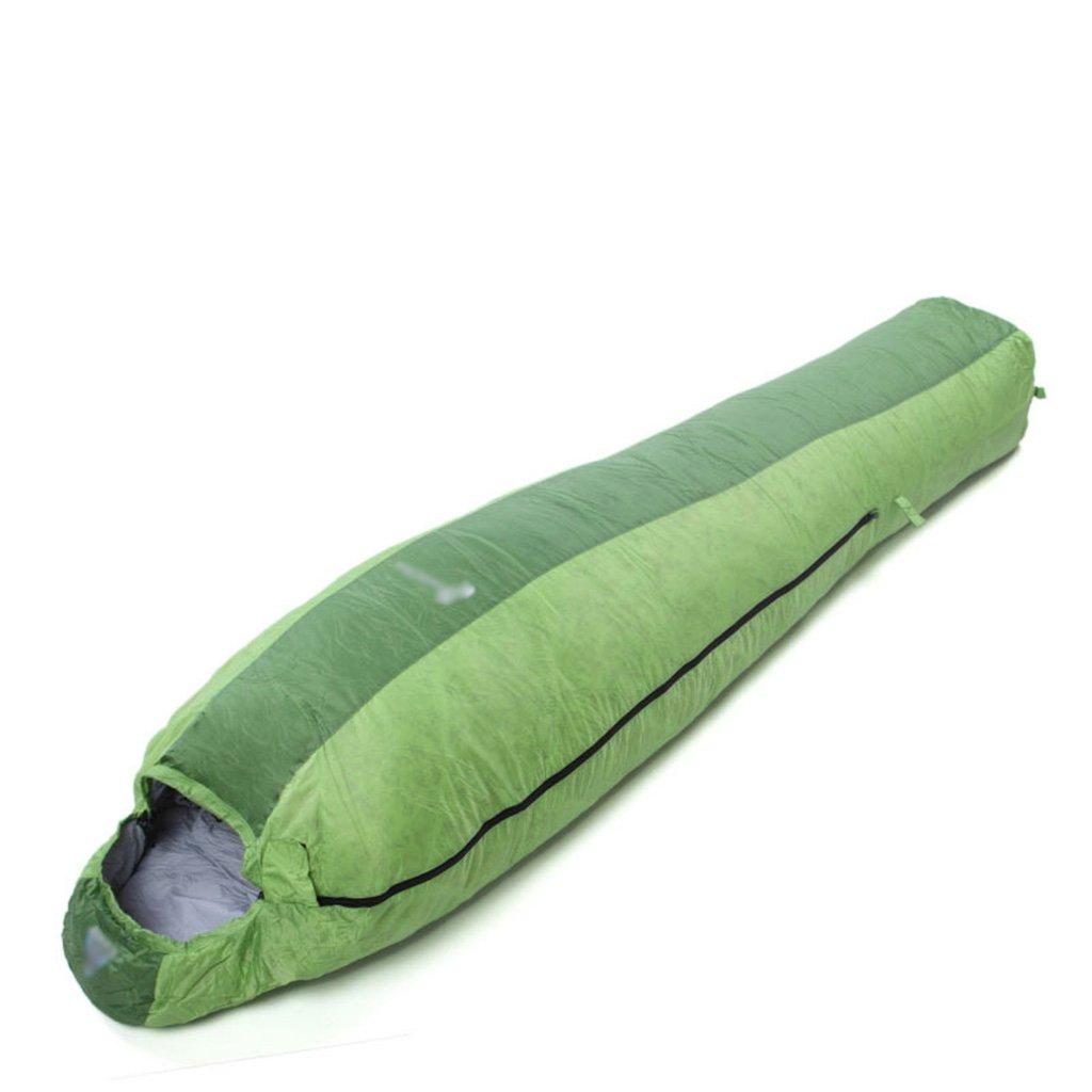 寝袋、超軽量春夏キャンプ成人屋外スポーツキャンプハイキングクライミング簡単に圧縮する B07DJ8FG5J 緑 緑