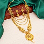 Sukkhi Ethnic Gold Plated Wedding Jewellery Kundan Multi-String Set of 3 Necklace Combo for Women (SKR48716)