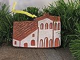 4'' Christmas Tree Ornament San Luis Obispo de Tolosa California Mission Church Southwest Handmade Terracotta Clay Art Holiday Decor
