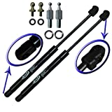 Two Front Hood Gas Charged Lift Supports With 4 Replacement Studs and Washers for 1990-1994 Lexus LS400. Left and Right Side. WGS-244-2