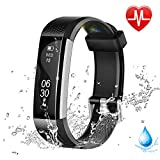 Lintelek Fitness Tracker, Slim Activity Tracker with Heart Rate Monitor, Waterproof Pedometer with Sleep Monitor, Calorie Counter Watch for Kids,Women,and Men
