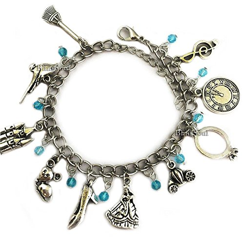 Disney Cinderella Charm Bracelet Jewelry – Princess Cosplay Costume Merchandise
