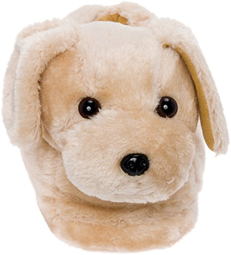 Silver Lilly Golden Retriever Slippers - Plush Dog Slippers w/Platform by (Gold, Medium) by Silver Lilly (Image #1)