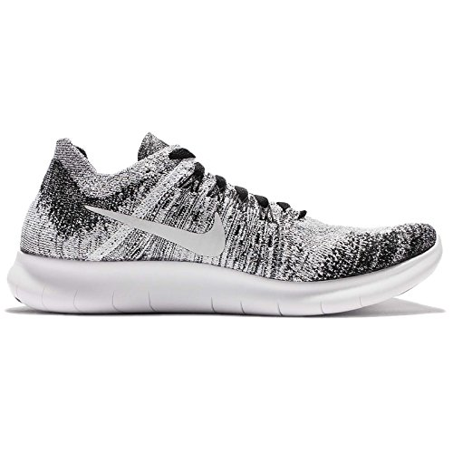 Nike Free Rn Flyknit Mtlc (gs) Nero / Bianco-volt