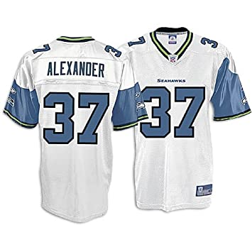 sports shoes fc28a 597b0 Shaun Alexander Seahawks White Reebok Replica Jersey: Amazon ...