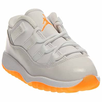 huge discount d51fa ca85f Air Jordan Retro 11 XI TD Citrus White Toddler 645107-139 US 10c