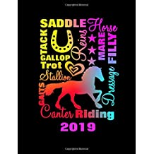 Horse Lovers Daily Planner 2019: Horse Terminology Typography