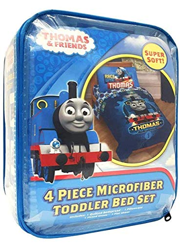 Thomas and Friends Race 4-Piece Toddler Bedding Set