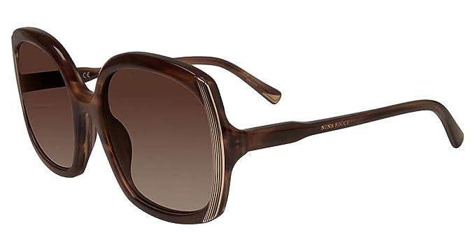 Amazon.com: anteojos de sol Nina Ricci SNR 049 Streak Beige ...