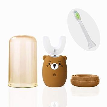 Amazon.com: Cepillo de dientes eléctrico automático tipo U ...