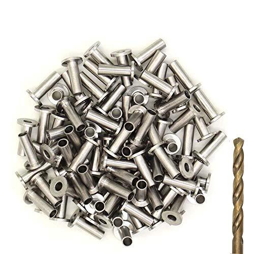 Blika 65PACK Stainless Steel Protector Sleeves for 1/8