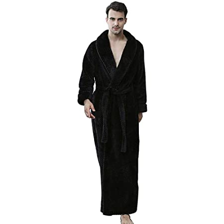 Bathrobe Men Dressing Gown Towelling Terry Fluffy Boy Luxury Long
