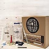 Master Vintner Wine Making Equipment Starter Kit with Plastic Big Mouth Bubbler and Plastic PET Carboy Fermentors