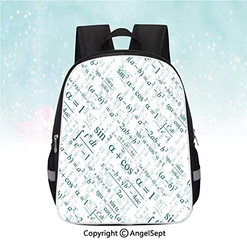 Nylon Fabric Backpack,Various Complex Math Formulas Operations Science Research Study Decorative,13