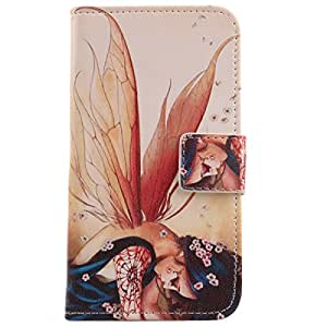 Lankashi Leather Cover Skin Protection Case for Samsung Galaxy Ace Duos S6802 Wing Girl Design
