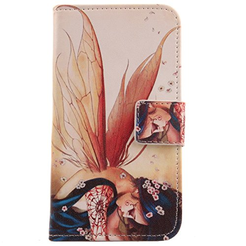 Lankashi Pattern Design Leather Cover Skin Protection Case for Archos 40 Cesium (Wing Girl)