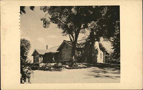 The Log Cabin 1931, Moncrieff Cochran Bird Sanctuary, Phillips Academy Original Vintage Postcard - 1931 Postcard