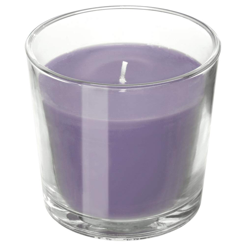 IKEA ASIA SINNLIG Scented Candle in Glass Lilac BlackBerry