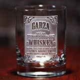 Personalized whiskey label, scotch, bourbon glasses SINGLE GLASS (wskylabel)