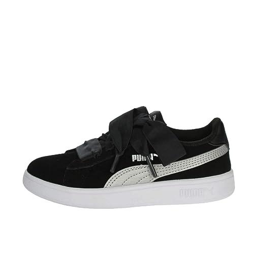 Puma Smash V2 Ribbon AC Inf, Sneakers Basses Mixte bébé