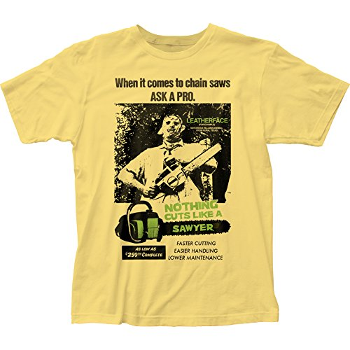 Texas Chainsaw Massacre Cuts Like A Sawyer Men's Tee Banana (XXLarge)