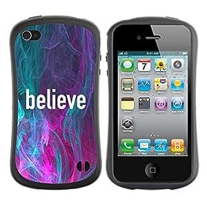"""Hypernova Slim Fit Dual Barniz Protector Caso Case Funda Para Apple iPhone 4 / iPhone 4S [Trullo Rosa Lema Texto motivación""""]"""