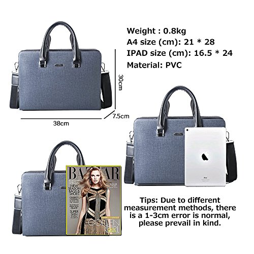 s Blue 3115 Bag Jn Men's Computer Business Shoulder Leather Pu Diagonal Tote Waterproof 2018 5qg1wn1t