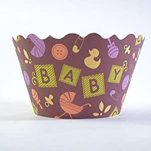 Baby Blocks Cupcake Wrappers - pack of 24