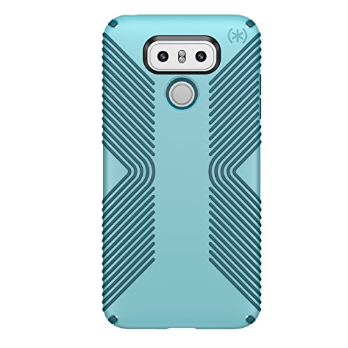 Speck Products Presidio Grip Cell Phone Case for LG G6 - Robin Egg Blue/Tide Blue