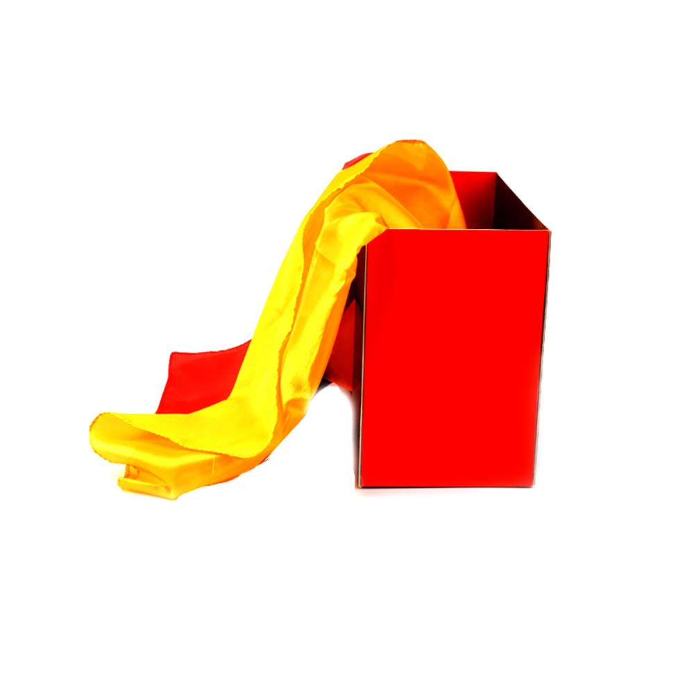 Silk Fountain Box 2.0 Magic Tricks Silk from Empty Box Magic Props Stage Accessories Magic Gimmick Magician Scarves