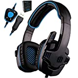 Gaming Headset 7.1 Surround USB Headphone with Microphone Noise Cancelling Mic for Computer