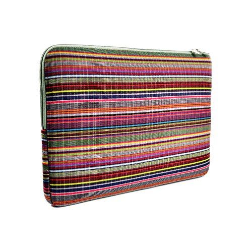TOPCASE Bohemian Style Canvas Fabric Laptop Sleeve Bag Case Cover for All 13