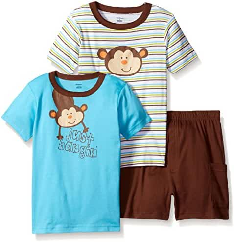 Gerber Boys' 3 Piece Shirt and Short Playwear Set
