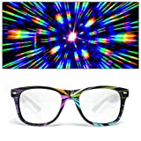 GloFX Starburst Diffraction Glasses - Rave Glasses Lazer Frame Rainbow Laser Prism