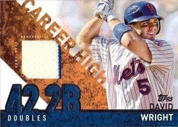 - 2015 Topps Career High Relics #CRH-DW David Wright Game Worn Jersey Baseball Card - White Jersey Swatch