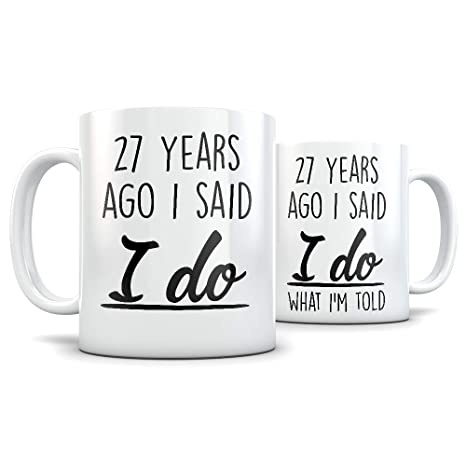 27th Anniversary Gift for Couple - Funny 27 Year Wedding Anniversary for Men and Women -  sc 1 st  Amazon.com & Amazon.com: 27th Anniversary Gift for Couple - Funny 27 Year Wedding ...