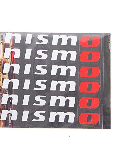 for Nismo wheel decals stickers die cut vinyl 6pcs set nissan GTR Skyline V35 R33 R34 Z32 Z33