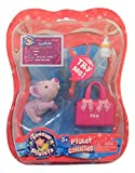 Teacup Piglets Litter 2 Piglet Carries ~ Charlie (Purple Piglet with Pink Bag; Girl Piglet)