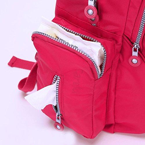 Mommy Bags Multifuncional de alta capacidad de la bolsa de hombro MOM Pack Maternal Baby Pack Mujer embarazada Baby Out Mochila ( Color : Rojo ) Rojo